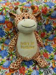 PERSONALISED CUBBIES TEDDY - Giraffey - Teddy Bear